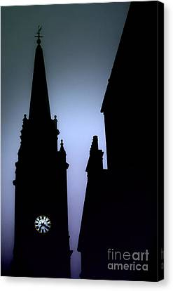 Church Spire At Dusk Canvas Print
