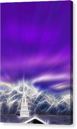 Church Steeple - Religious Freedom Canvas Print by Steve Ohlsen