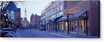 Church Street, Burlington Vermont, Usa Canvas Print by Panoramic Images