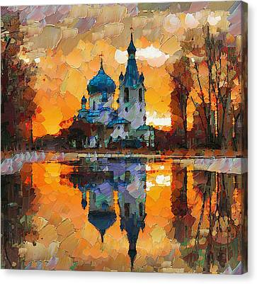 Church Sunset Canvas Print by Yury Malkov