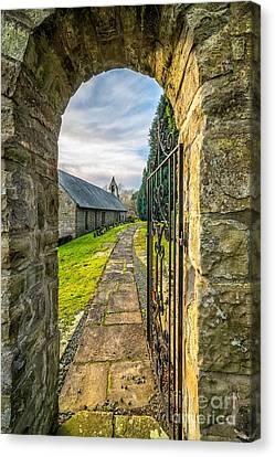 Hdr Landscape Canvas Print - Church Way by Adrian Evans