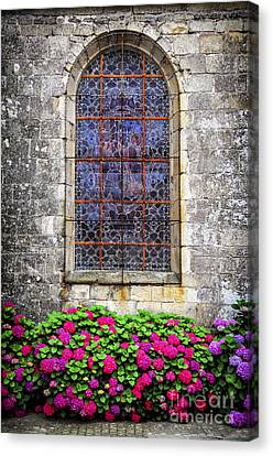 Church Window In Brittany Canvas Print by Elena Elisseeva