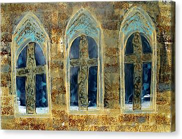 Canvas Print featuring the photograph Church Windows by Lesley Fletcher