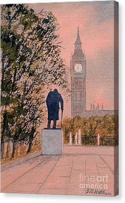 Churchill And Big Ben Canvas Print by Bill Holkham