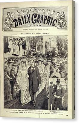 Churchill - Hozier Wedding Canvas Print by British Library