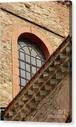 Panagia Canvas Print - Churchwindow And Stonerow by Christiane Schulze Art And Photography