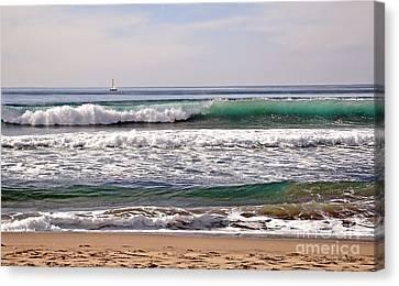 Churning Surf At Monterey Bay Canvas Print