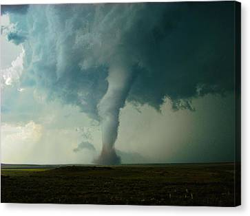 Canvas Print featuring the photograph Churning Twister by Ed Sweeney