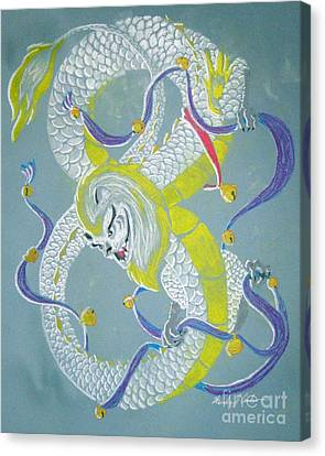 Chu's Dance Of 12 Bells Canvas Print by Wendy Coulson