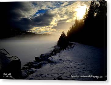 Canvas Print featuring the photograph Chute Lake Winter by Guy Hoffman