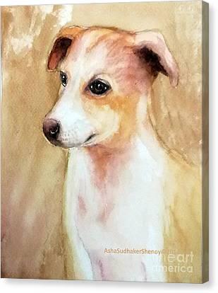 Chutki The Pet Dog Canvas Print