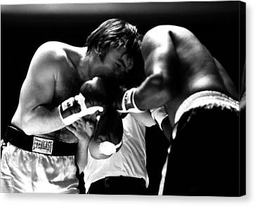 Chuvalo In A Clinch Canvas Print