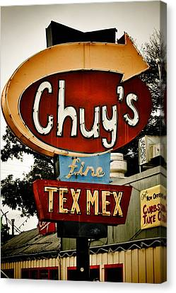 Chuy's Sign 2 Canvas Print