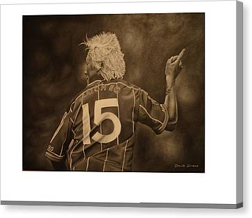 Canvas Print featuring the painting Ciaran Mcdonald by David Dunne