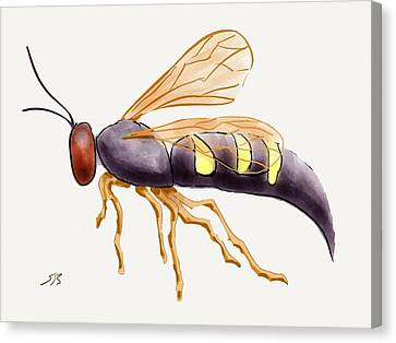 Cicada Killer Wasp Canvas Print by Stacy C Bottoms