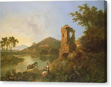 Ciceros Villa Oil On Canvas Canvas Print
