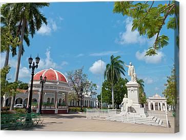 Cienfuegos, Cuba, Jose Marti Square Canvas Print