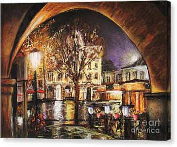 Cieszyn At Night Canvas Print