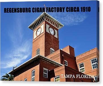 Cigar Factory 1910 Canvas Print