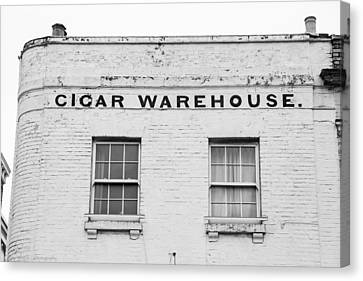 Canvas Print featuring the photograph Cigar Warehouse by Ross Henton