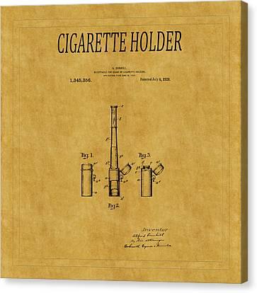 Cigarette Holder Patent 1 Canvas Print by Andrew Fare