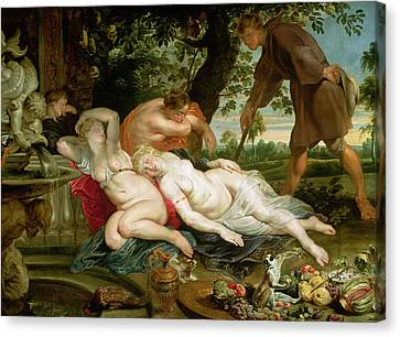 Peter Paul Rubens Canvas Print - Cimon And Iphigenia, 1617 by Peter Paul Rubens