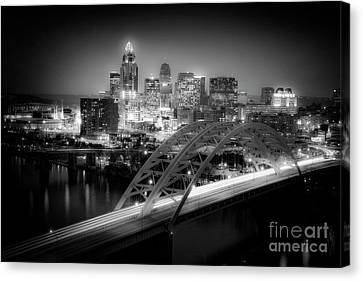 Cincinnati A New Perspective Canvas Print by Kimberly Nickoson