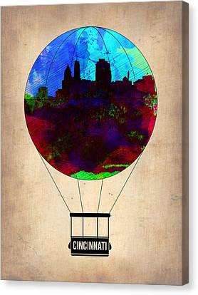Cincinnati Air Baloon Canvas Print by Naxart Studio