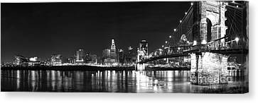 Cincinnati At Night Canvas Print by Twenty Two North Photography