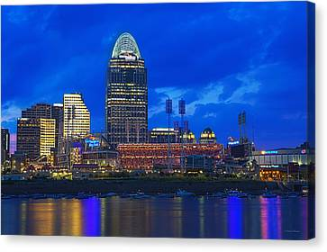 Cincinnati At Sunset Canvas Print