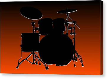 Cincinnati Bengals Drum Set Canvas Print by Joe Hamilton