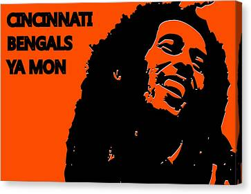 Cincinnati Bengals Ya Mon Canvas Print by Joe Hamilton