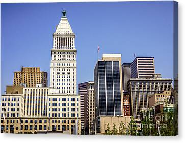 Cincinnati Downtown City Buildings Business District Canvas Print by Paul Velgos
