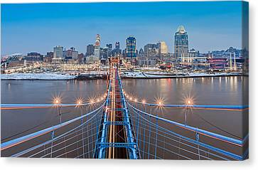 Cincinnati From On Top Of The Bridge Canvas Print