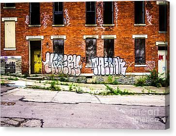 Cincinnati Glencoe Auburn Place Graffiti Photo Canvas Print by Paul Velgos