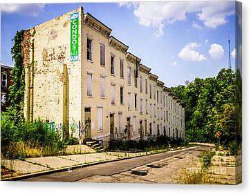 Cincinnati Glencoe-auburn Row Houses Picture Canvas Print by Paul Velgos