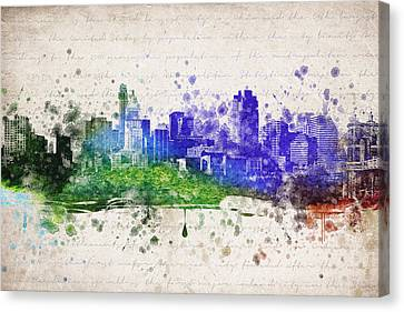 Cincinnati In Color Canvas Print