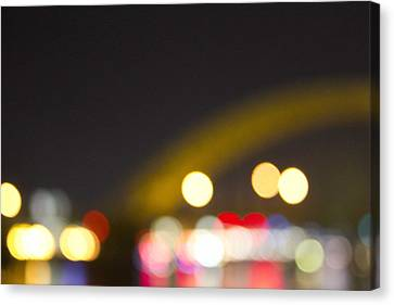 Canvas Print featuring the photograph Cincinnati Night Lights by Daniel Sheldon