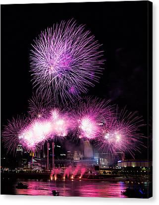 Cincinnati Reds Fireworks Friday Canvas Print