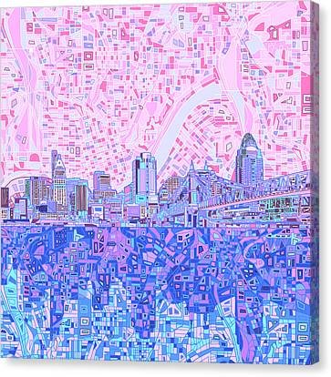 Cincinnati Skyline Abstract Canvas Print