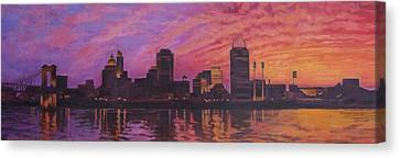 Cincinnati Skyline Canvas Print by Andrew Danielsen