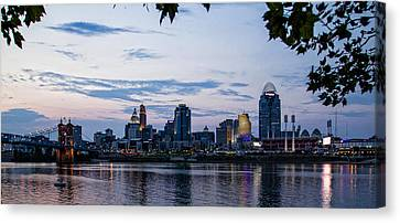 Cincinnati Skyline Canvas Print by Cathy Donohoue