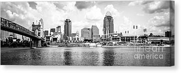 Cincinnati Skyline Panoramic Picture Canvas Print by Paul Velgos