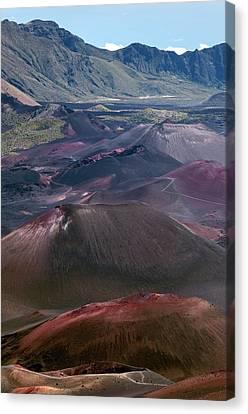 Cinder Cones In Haleakala Crater Canvas Print by Kaj R. Svensson