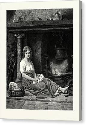 Cinderella In The Corner. After Bertrand Canvas Print