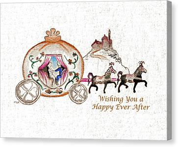 Cinderella Wedding Message Canvas Print