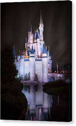 Cinderella's Castle Reflection Canvas Print