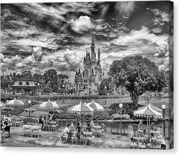 Canvas Print featuring the photograph Cinderella's Palace by Howard Salmon