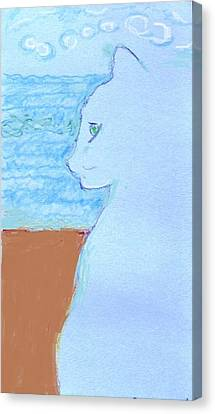 Cindy By The Sea Canvas Print by Anita Dale Livaditis