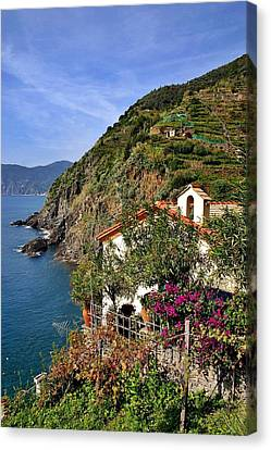 Cinque Terre Seaside Canvas Print by Henry Kowalski